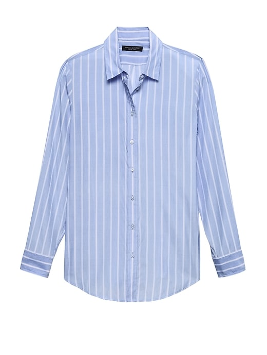 Petite Dillon Classic Fit Stripe Shirt by Banana Repbulic