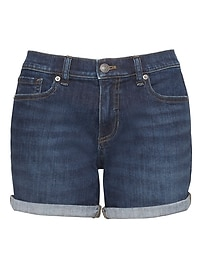 "Roll-Up Medium Wash 6"" Denim Short"