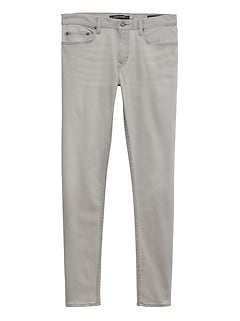 Skinny Rapid Movement Denim Gray Wash Jean