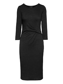 Soft Jersey Twist Front Dress
