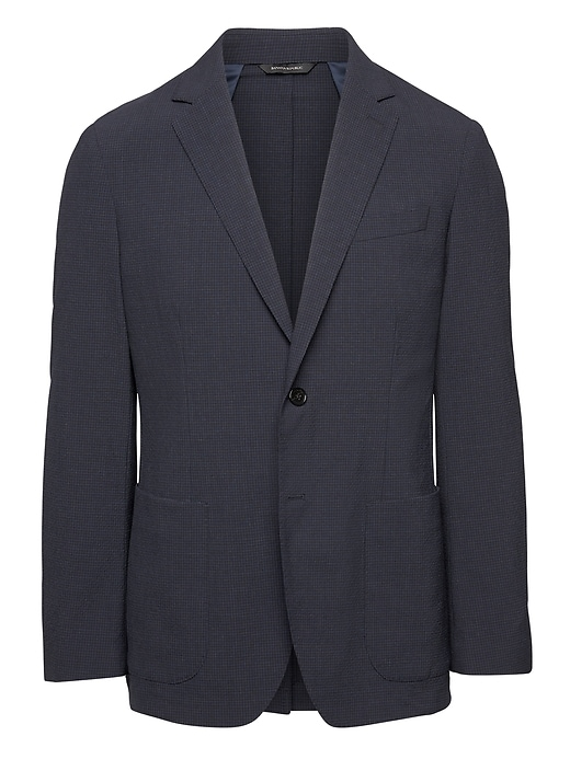 Standard Smart Weight Performance Wool Blend Seersucker Suit Jacket by Banana Repbulic