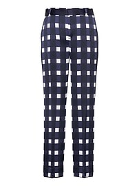 Avery Ankle-Fit Gingham Pant