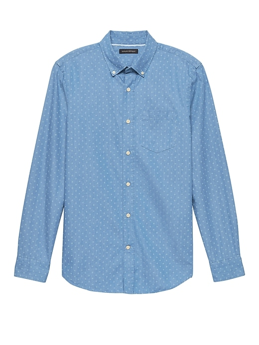 Grant Slim Fit Chambray Print Shirt by Banana Repbulic