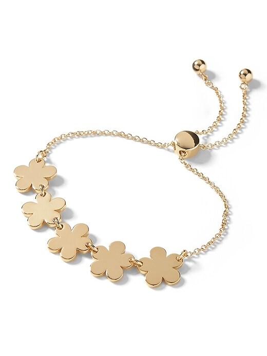 Golden Flower Slider Bracelet by Banana Repbulic