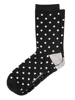 Polka Dot Trouser Sock