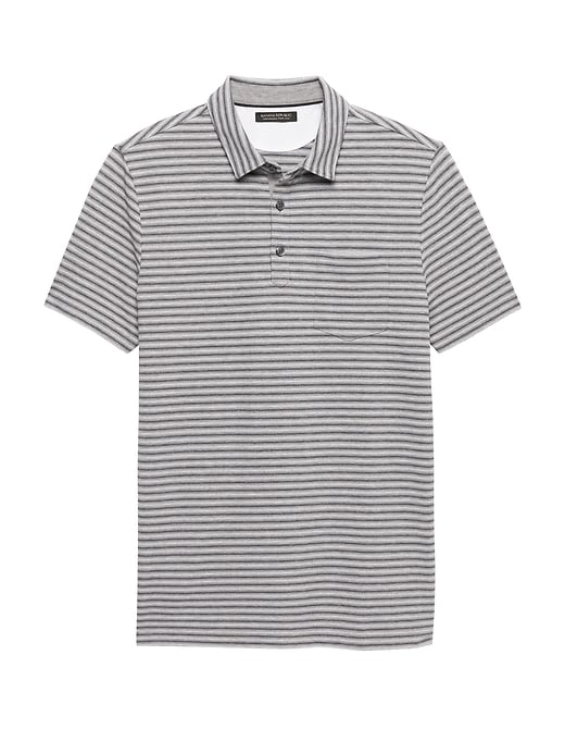 Don't Sweat It Stripe Polo by Banana Repbulic
