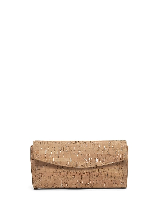 Cork Small Foldover Clutch by Banana Repbulic