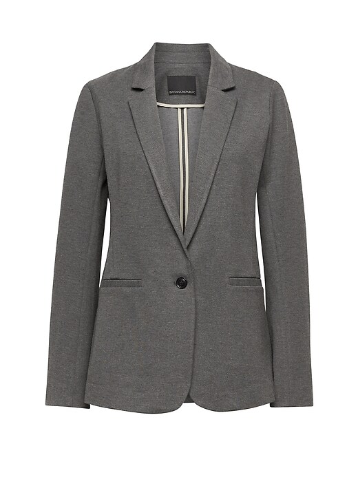 Boyfriend Fit Machine Washable Ponte Blazer by Banana Repbulic