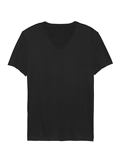 Tech Cotton V-Neck T-Shirt