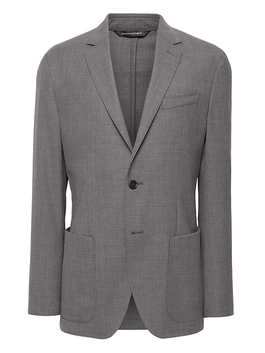 Slim Solid Smart Weight Performance Wool Blend Suit Jacket by Banana Repbulic
