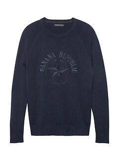 Washable Wool-Cashmere Logo Sweater