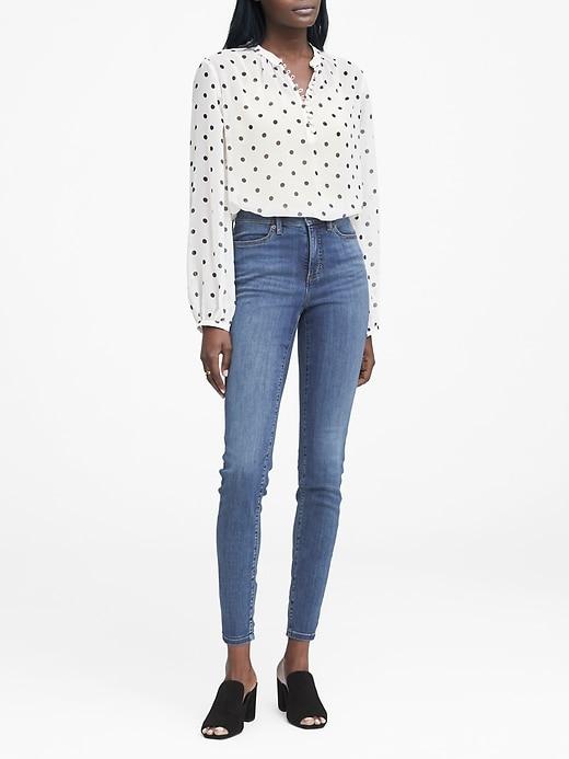 High Rise Legging Fit Medium Wash Jean by Banana Repbulic