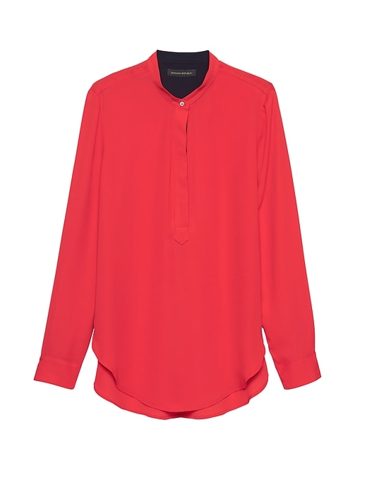 Parker Tunic Fit Popover Shirt by Banana Repbulic