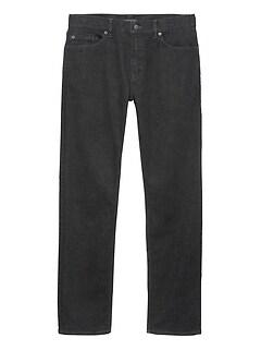Straight Rapid Movement Denim Black Jean