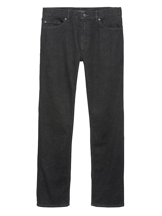 Slim Rapid Movement Denim Black Jean by Banana Repbulic