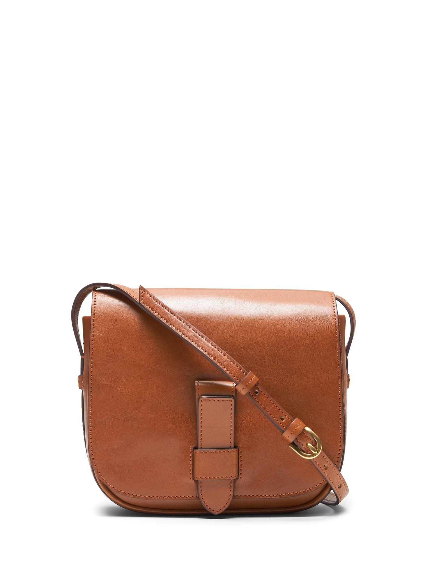 51123f59c4f6 Italian Leather Saddle Bag