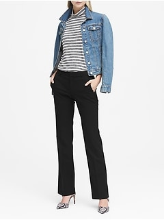 Petite Logan Trouser-Fit Lightweight Wool Pant