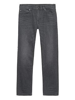 Straight Rapid Movement Denim Gray Wash Jean