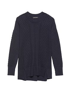 Petite Cable-Knit Sweater Tunic