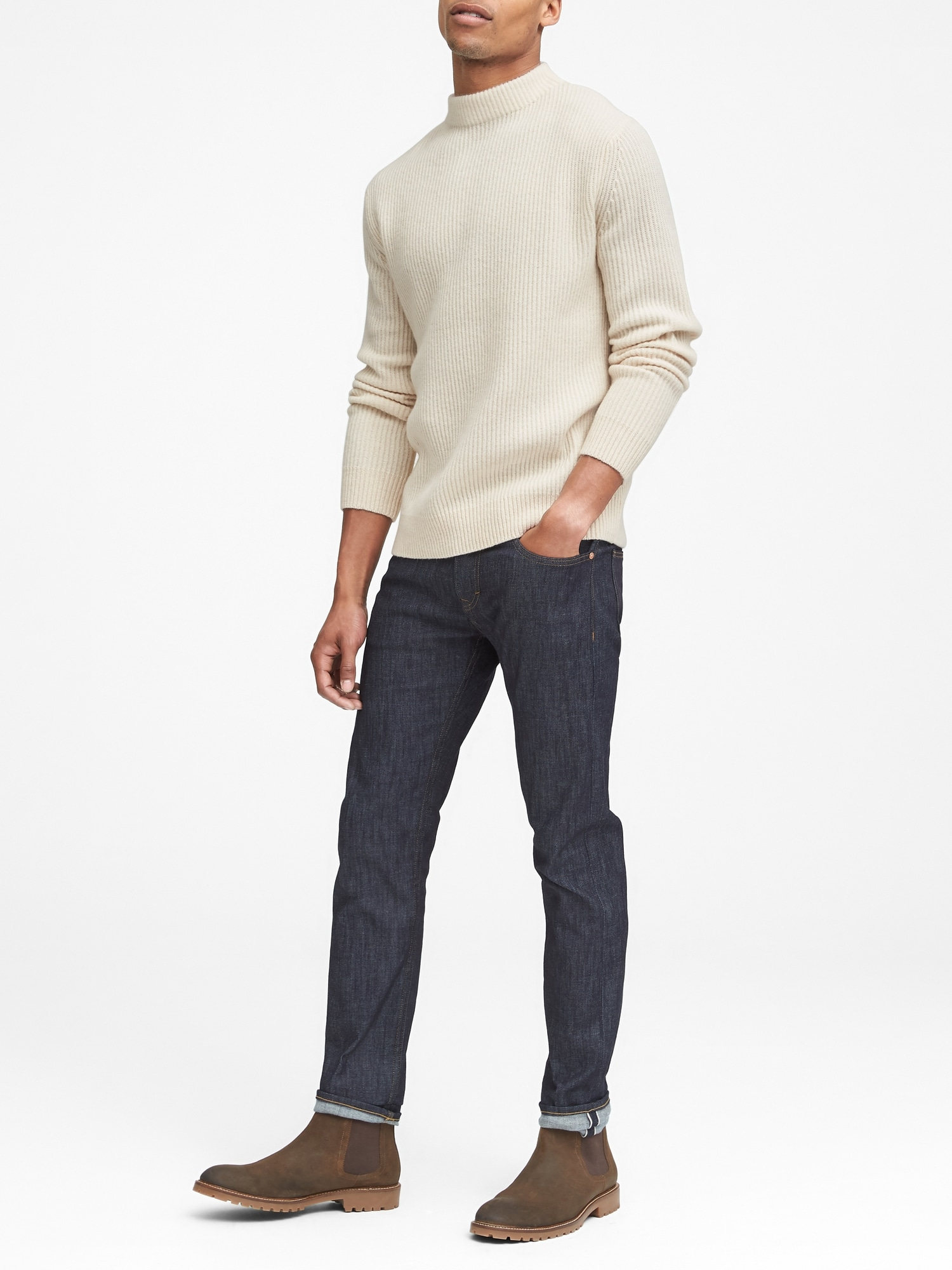 14fd5abd67 Heritage Alpaca-Blend Mock-Neck Sweater