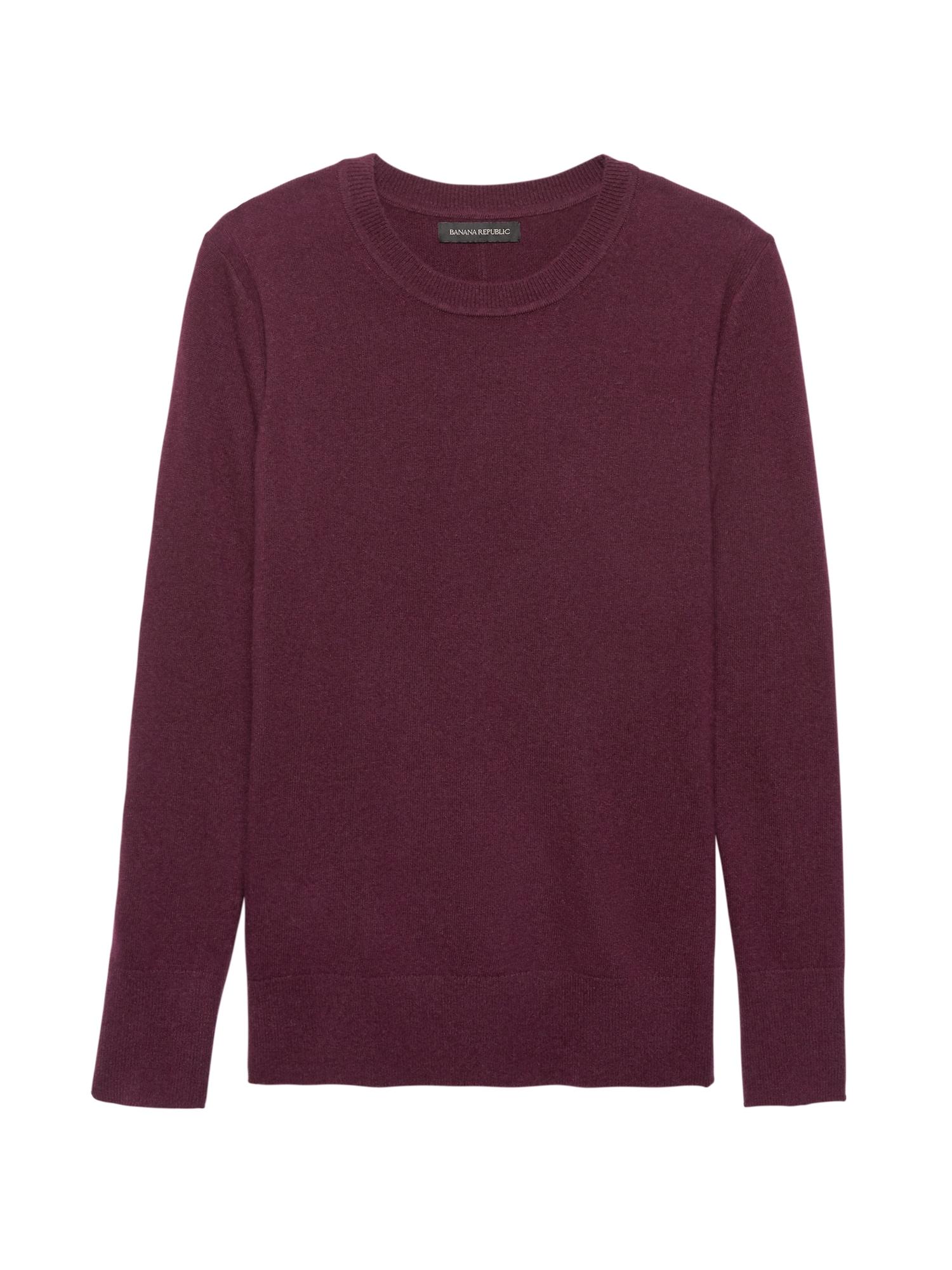 e92904f117a93 Italian Merino-Blend Crew-Neck Sweater