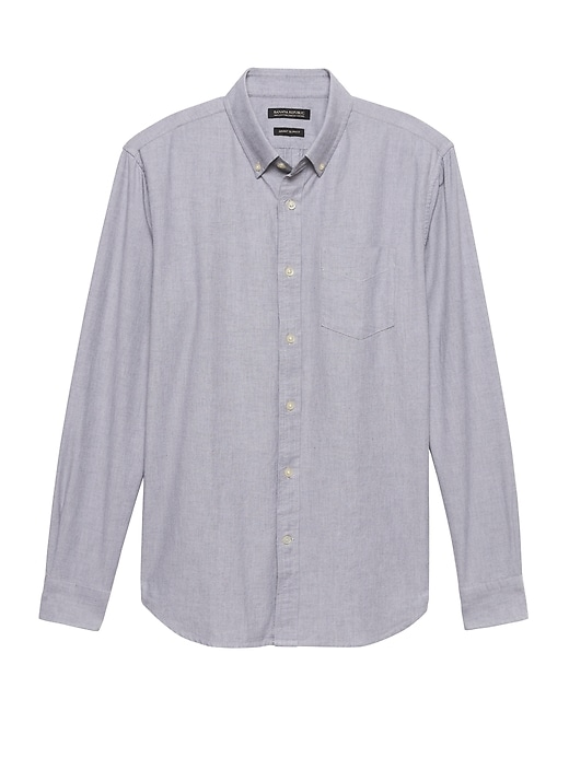 Grant Slim Fit 100% Cotton Oxford Shirt &Nbsp; by Banana Repbulic