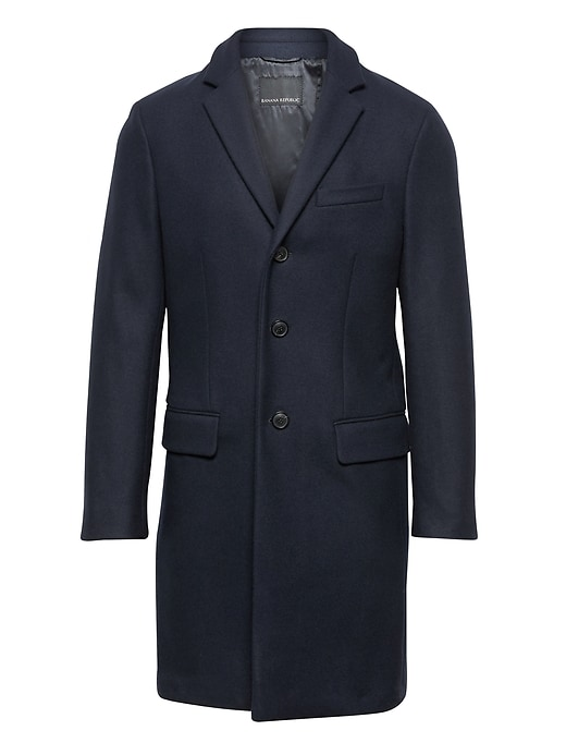 Br X Kevin Love | Slim Italian Wool Blend Topcoat by Banana Repbulic