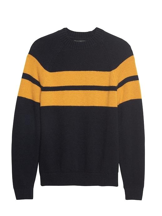 br-x-kevin-love-|-air-spun-stripe-crew-neck-sweater by banana-repbulic