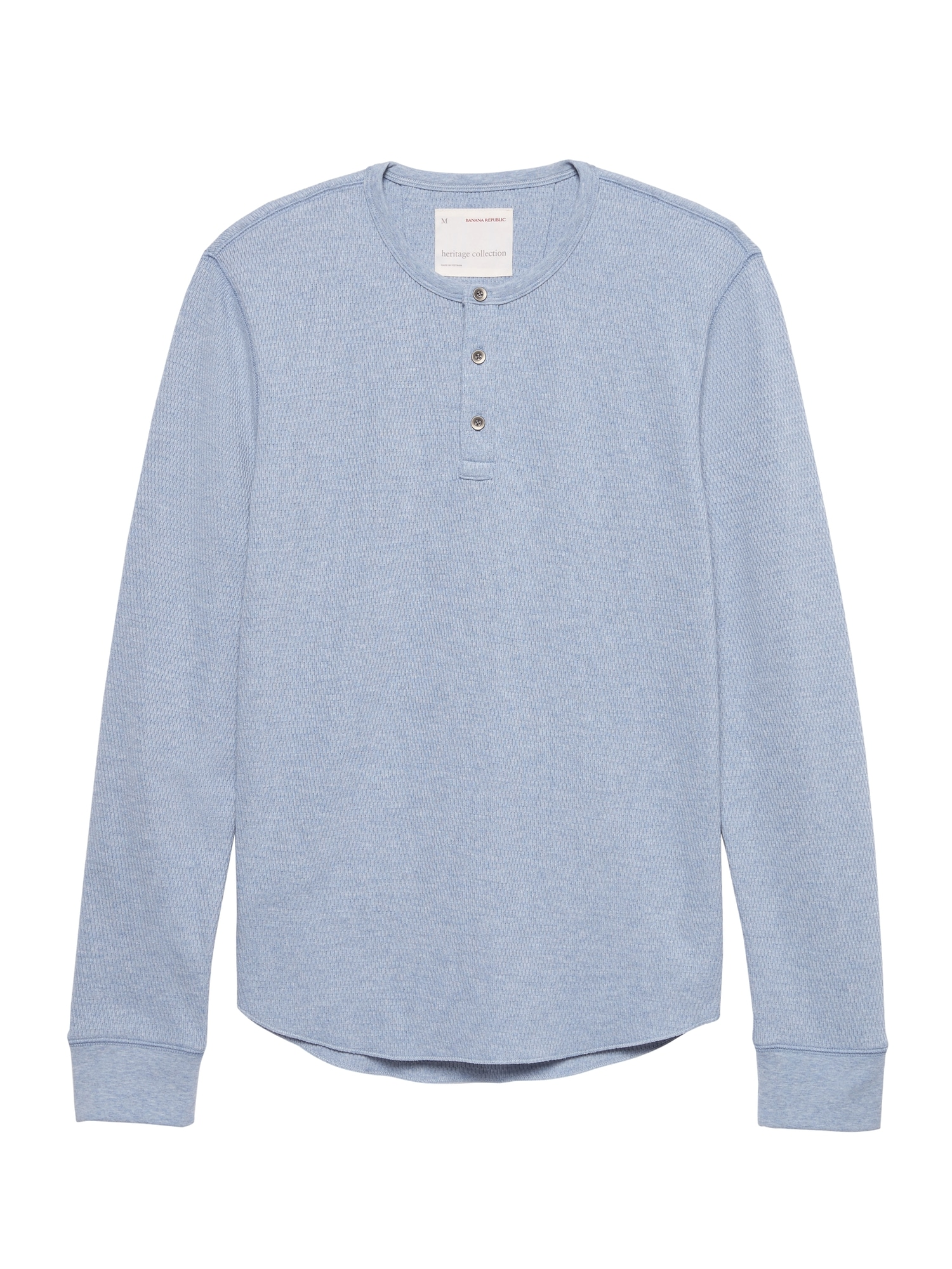 8530c555 Heritage Waffle-Knit Henley Thermal T-Shirt | Banana Republic