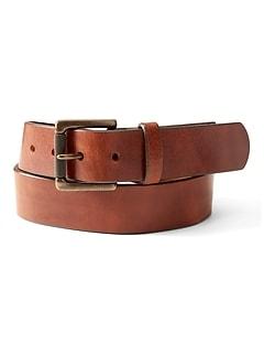 Tumbled Italian Leather Belt
