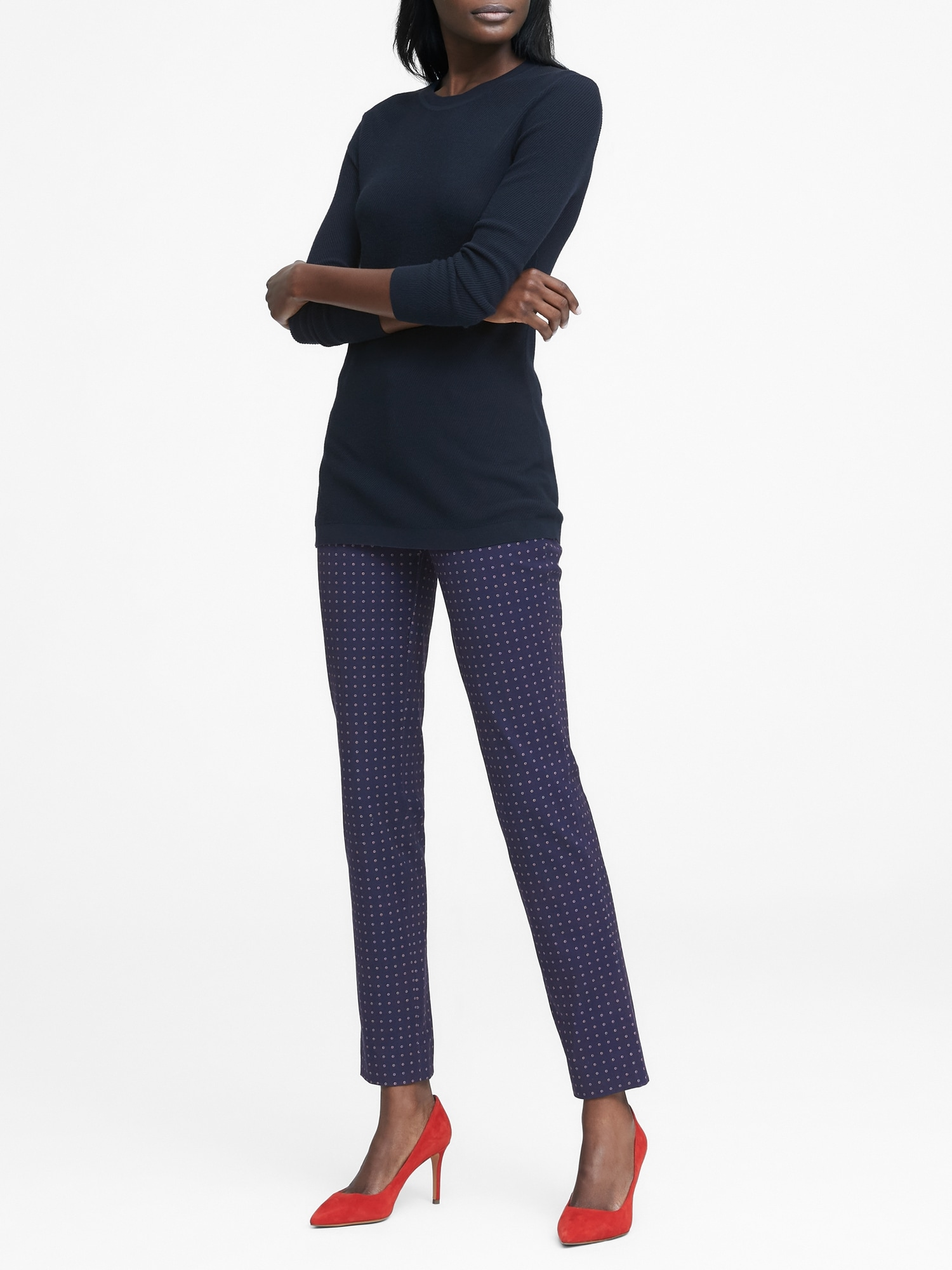 b25c6e0a3 Sloan Skinny-Fit Print Ankle Pant
