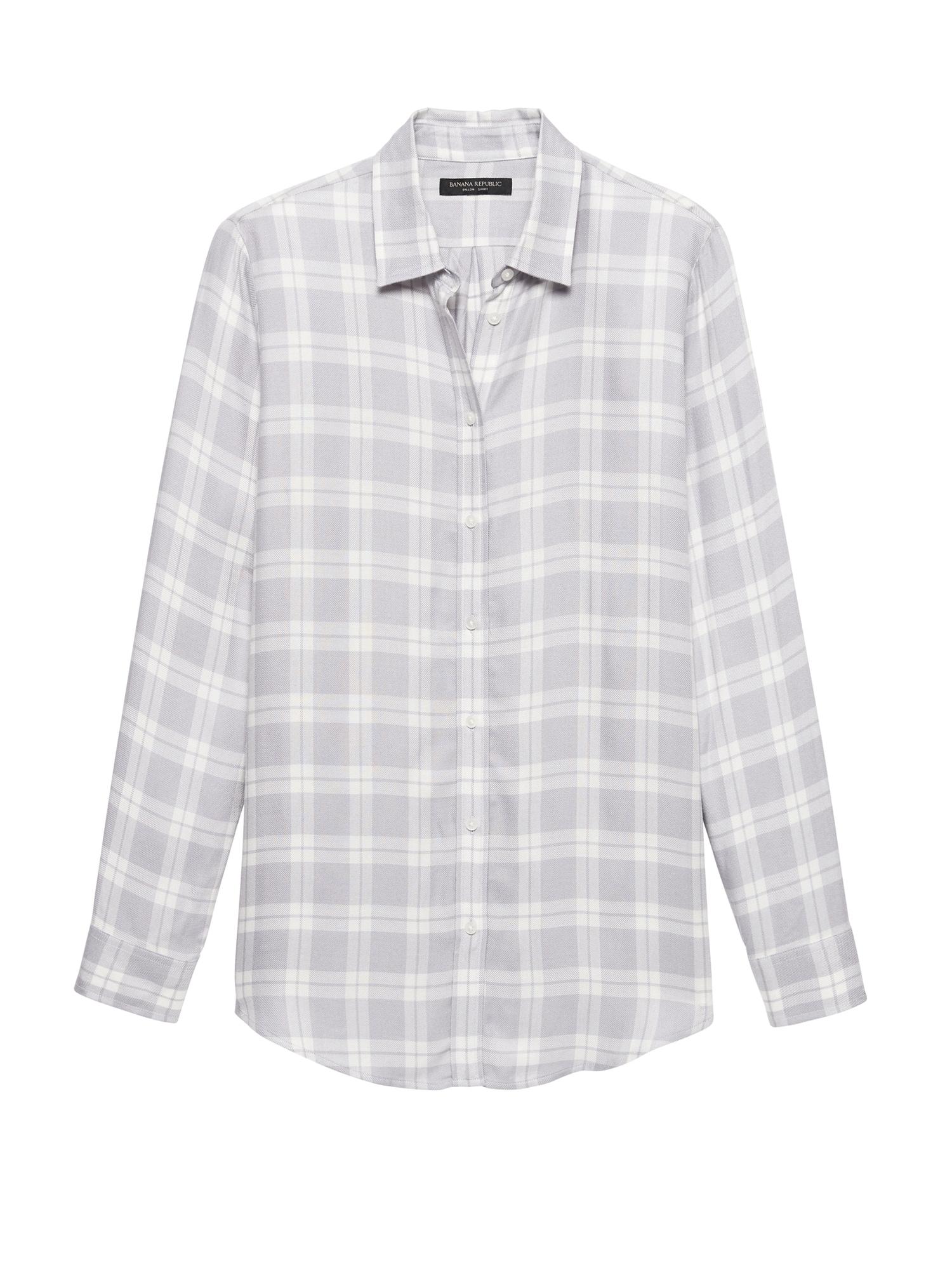 1bfab0dabbb Dillon Classic-Fit Plaid Flannel Shirt | Banana Republic