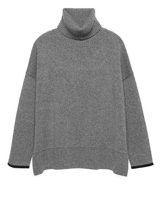 Cashmere Oversized Turtleneck Sweater by Banana Repbulic