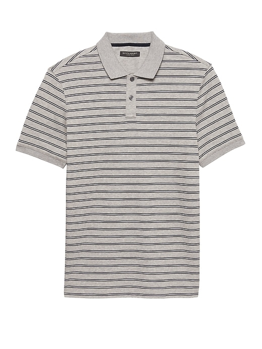 Luxury Touch Allover Stripe Polo by Banana Repbulic