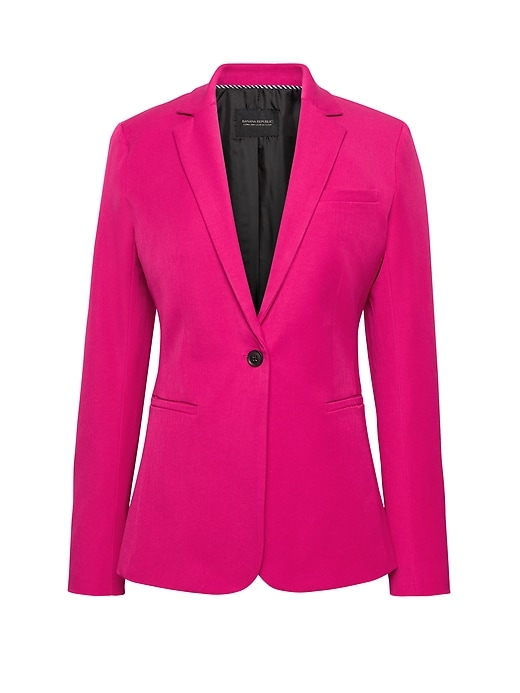 Long And Lean Fit Bi Stretch Solid Blazer by Banana Repbulic