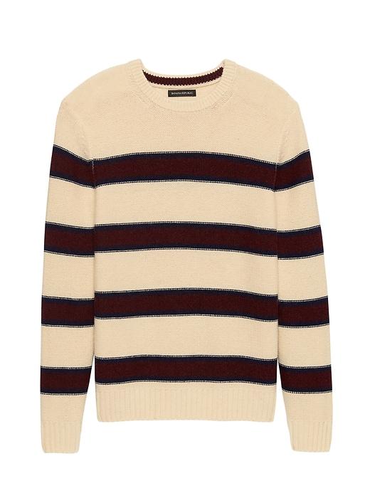 Italian Merino Blend Modern Stripe Sweater by Banana Repbulic
