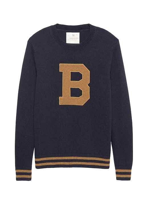 Heritage Letterman Sweater by Banana Repbulic