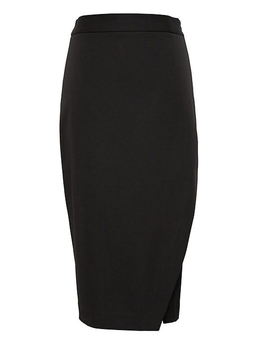 Bi Stretch Wrap Front Pencil Skirt by Banana Repbulic