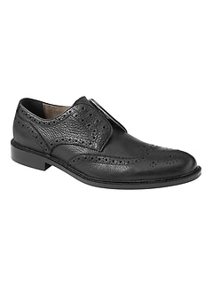 Lawsin Laceless Leather Brogue Oxford