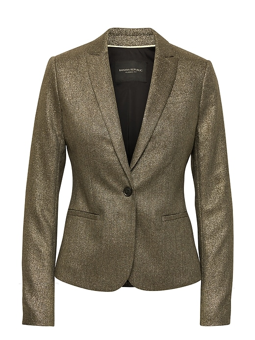 Classic Fit Metallic Blazer by Banana Repbulic
