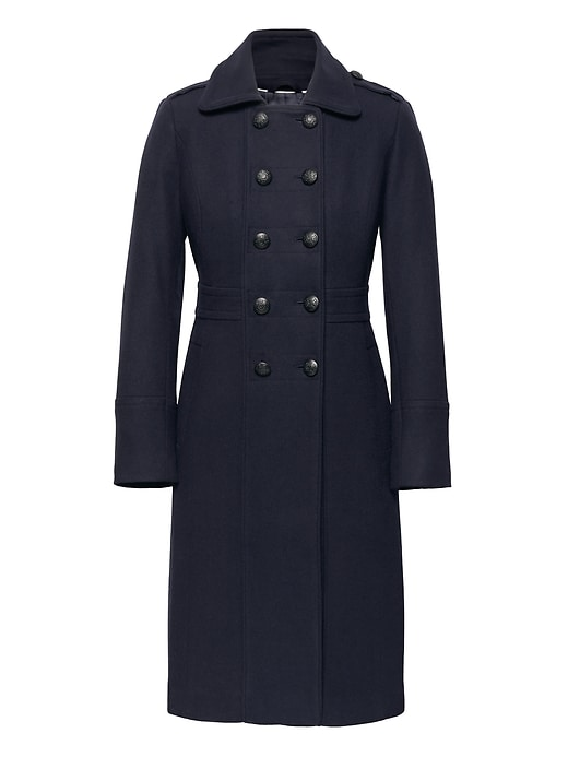 Italian Melton Military Coat by Banana Repbulic
