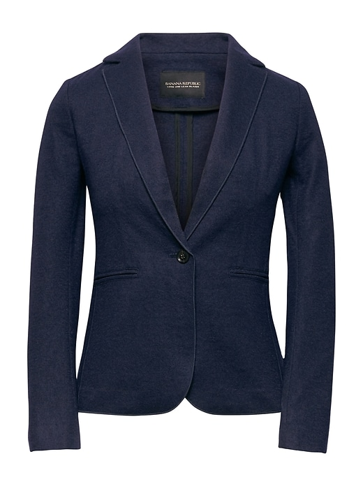 Unstructured Wool Blend Knit Blazer by Banana Repbulic