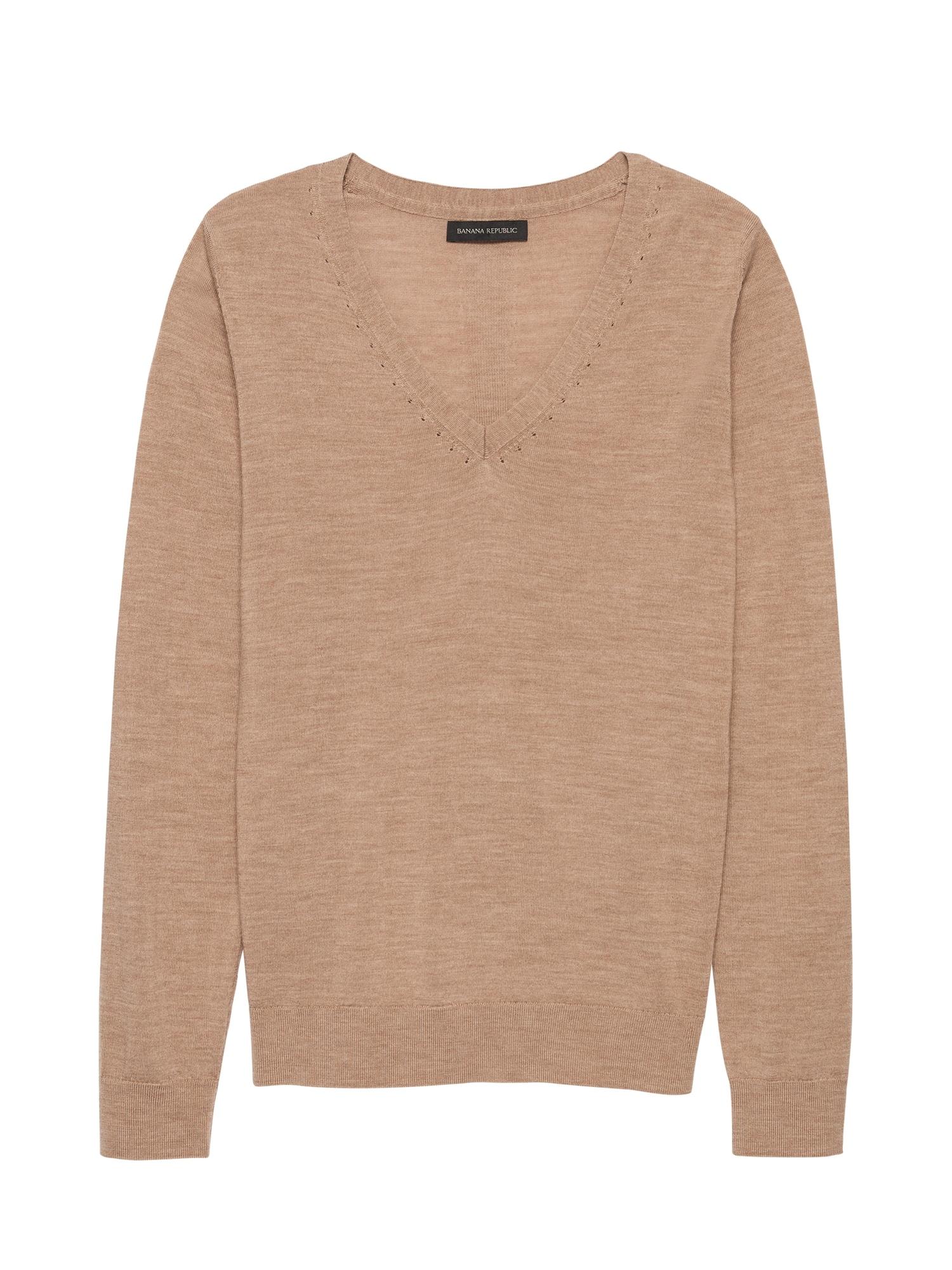 4ef534b5673 Washable Merino V-Neck Sweater