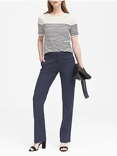 Petite Logan Trouser-Fit Washable Italian Wool-Blend Pant