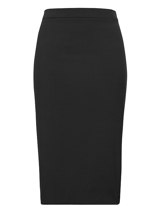 Petite Washable Italian Wool-Blend Pencil Skirt with Side Slit