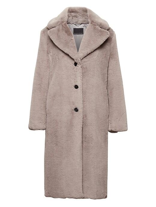 Teddy Long Coat by Banana Repbulic