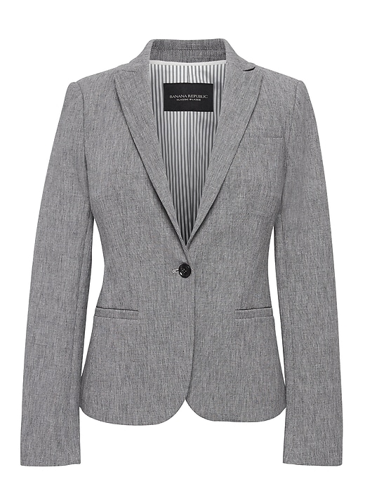 Classic Fit Bi Stretch Textured Blazer by Banana Repbulic