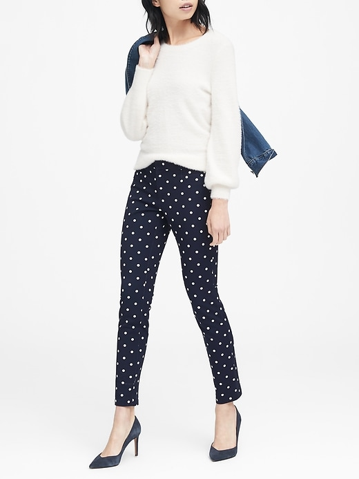 Sloan Skinny Fit Polka Dot Pant by Banana Repbulic