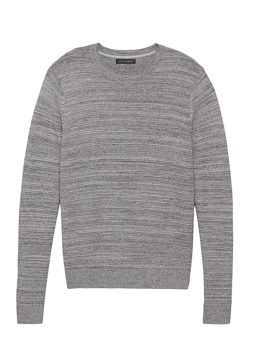 Cotton Crew Neck Sweater by Banana Repbulic
