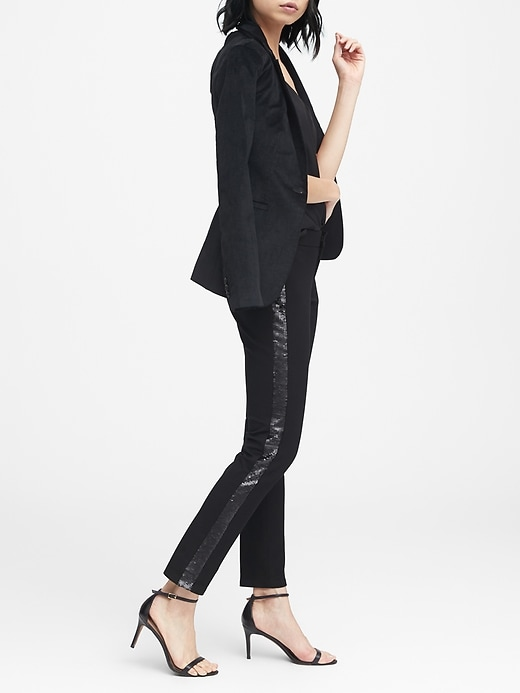 Sloan Skinny Fit Sequin Side Stripe Pant by Banana Repbulic